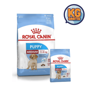 Royal Canin Medium Puppy 15 Kg + 3 Kg Gratis