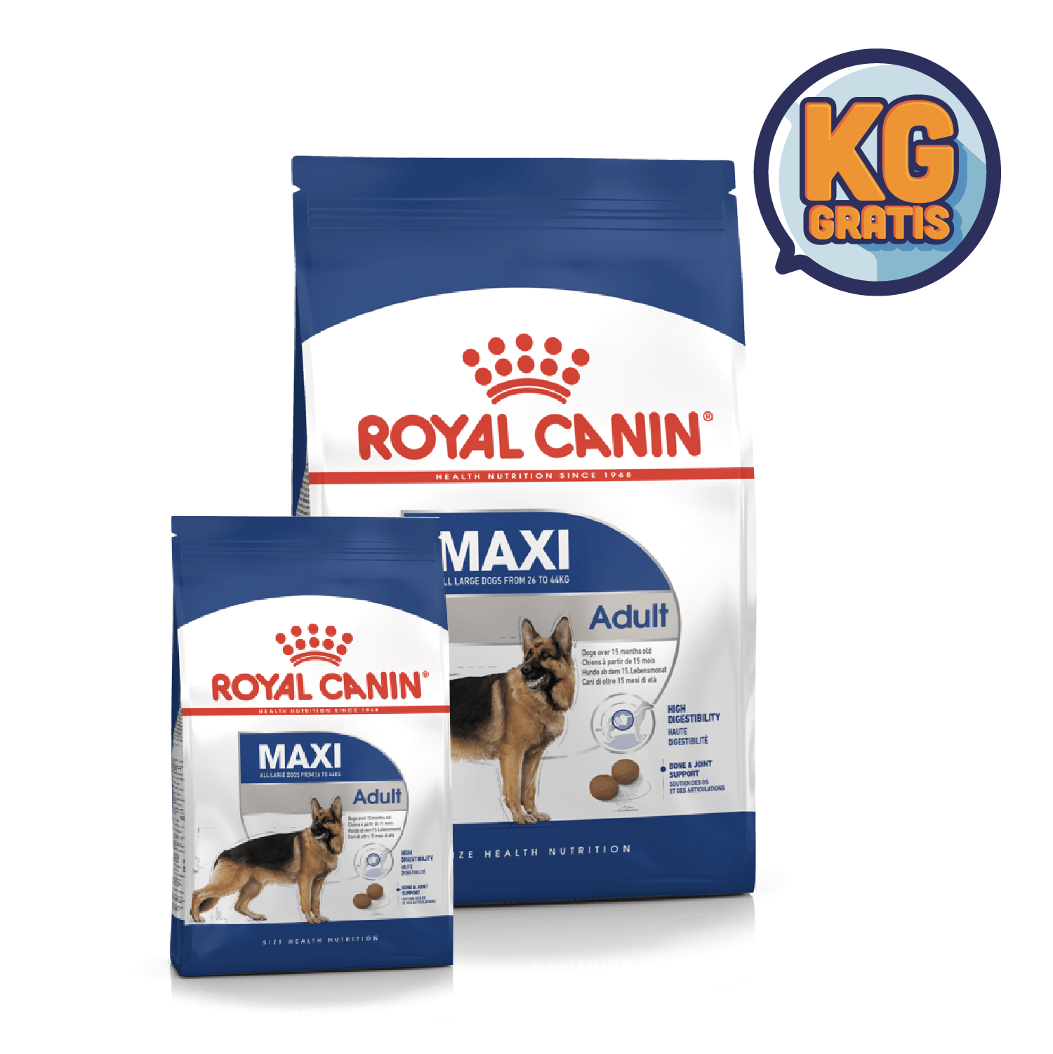 Royal Canin Maxi Adult 15 Kg + 3 Kg Gratis