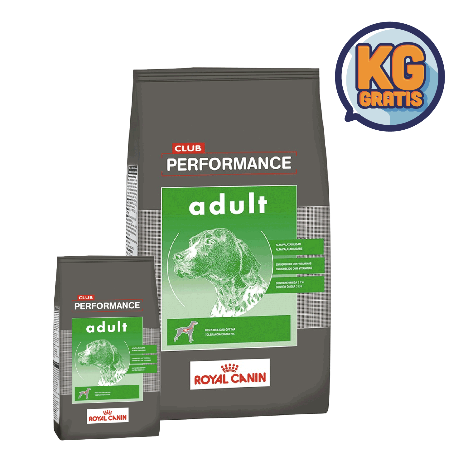 Club Performance Adulto 20 Kg + 2 Kg Gratis