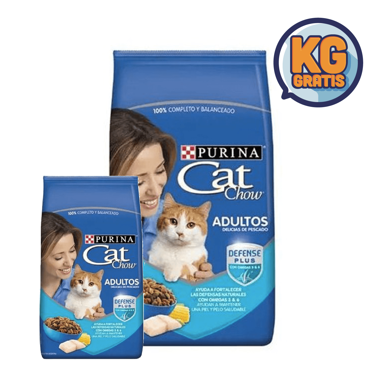 Cat Chow Adulto Pescado 15 Kg +  3 Kg Gratis