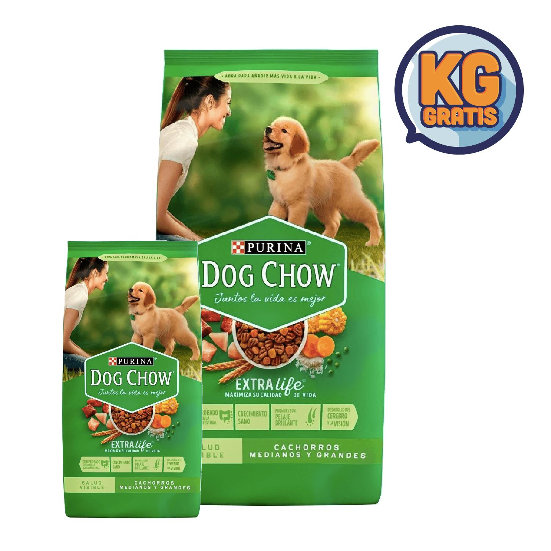 Dog Chow Cachorro Mediano y Grande 21 Kg + 3 Kg Gratis