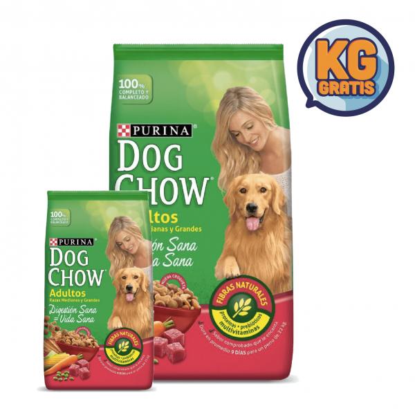 Dog Chow Adulto Mediano y Grande 21 Kg + 3 Kg Gratis