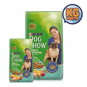 Dog Chow Adulto Sano y en Forma 21 Kg + 3 Kg Gratis