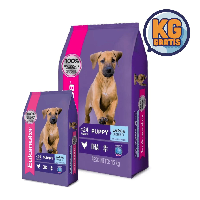 Eukanuba Cachorro Raza Grande 15 Kg + 3 Kg Gratis