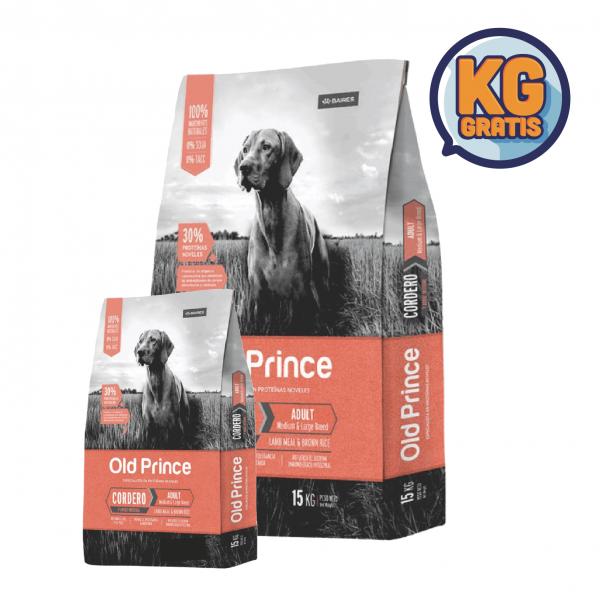 Old Prince Novel Adulto Cordero y Arroz 15 Kg +  3 Kg Gratis