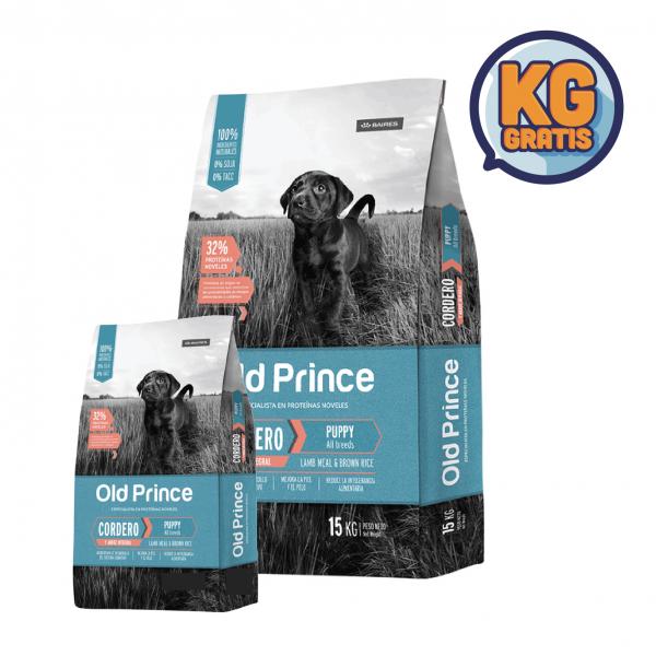 Old Prince Novel Cachorro Cordero y Arroz 15 Kg + 3 Kg Gratis
