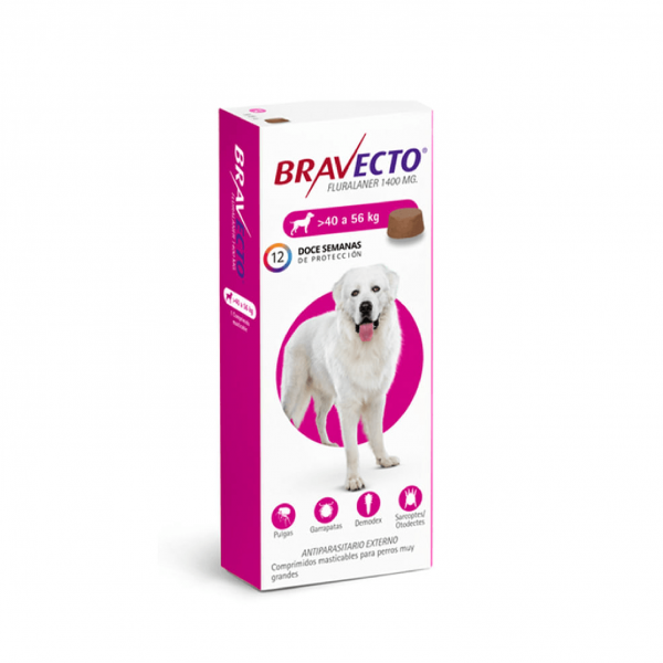 BRAVECTO 40 a 56 KG 1400 mg rosa